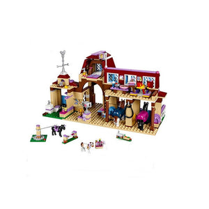 New Girl Friends Riding Club Horse Stables Block Set Heartlake City  Mia Stephanie Building Block Toy with Toys for Children