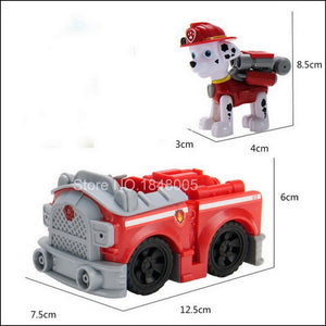 Paw Patrol Toy Set Car paw patrol Dog Everest Apollo Tracker Ryder Skye Scroll Action Figure Anime Model Toys for Children Gift