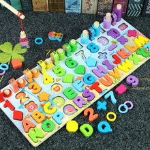 Load image into Gallery viewer, Kids Toys Montessori Educational Wooden Toys Geometric Shape Cognition Puzzle Toys Math Toys Early Educational Toys for Children