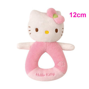 1pcs New Baby toy! Kids hand Rattle Shaking Bell cartoon animal cat plush toy Pink Kitty Baby Soothing toy high quality