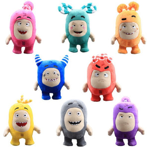 8pcs/Lot 18cm Oddbods Anime Plush Fuse Pogo Bubbles Slick Zeke Jeff Stuffed Dolls Cute Cartoon Peluche Toys for Children Gifts (8pcs)