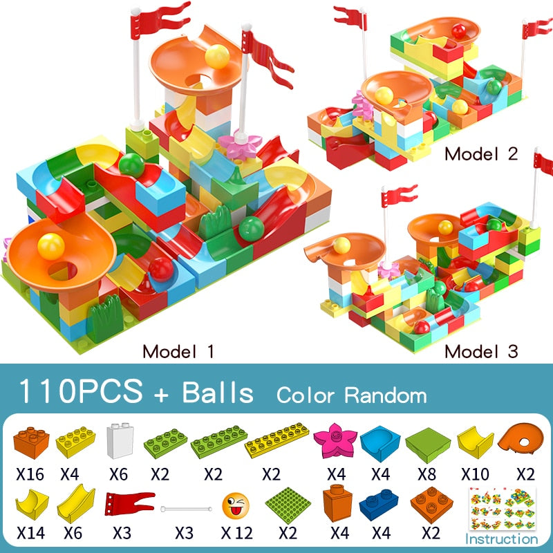 277PCS Compatible with Duploed Building Blocks Animals Figurine Classic City Bricks Consturction Educational Toys For Children