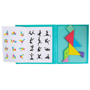 New Magnetic Puzzle 3D Jigsaw Tangram Games Wooden Montessori Educational Toy Learning for Kids Girls Children Baby Gift Hot