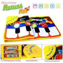 Load image into Gallery viewer, 110x36CM Baby Electronic Music Piano Play Mat Multi-function 8 Instruments Mode Musical Carpets Educational Toys Children Kids