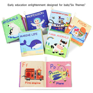 New Animal Cognition Infant Newborn Baby Soft Fabric Cloth Book Learning Educational Toys For Kids Baby Books 0-12 months