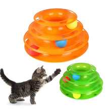 Load image into Gallery viewer, Pet Toy Ball Cat Carousel Baby Cat Supplies Automatic Cat Toy Three-layer Tower Track Carousel Ball Toy