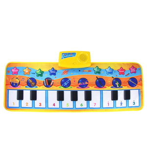 80x28CM Baby Music Piano Play Mat Multi-function with Instrument Sound Demo Songs Cloth Musical Carpet Educational Toys for Kids (large size piano mat)
