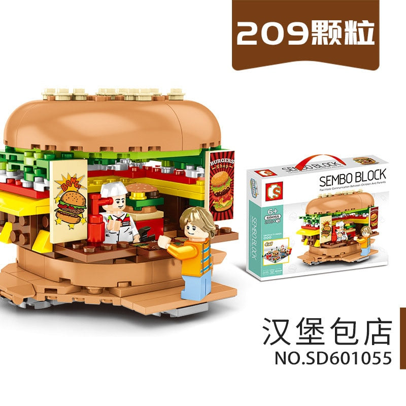 546pcs City Street View Compatible Lepining Friends Creator Ice Cream Truck Food Store Buildings Blocks Toys For Children 284
