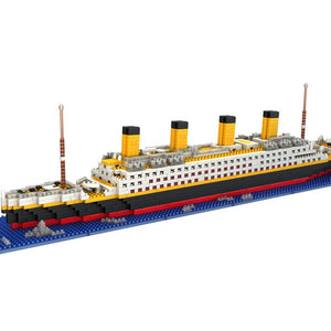 1300/1860 Pcs No Lepining RMS Titanic Cruise Ship Model Boat DIY Diamond Building Blocks Bricks Kit Children Kids Toys Gifts