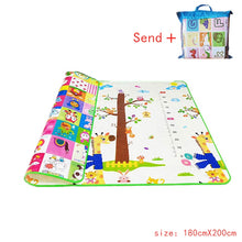 Load image into Gallery viewer, Baby Crawling Play Mat 1.5*1.8 Meter Climb Pad Double-Side Fruit Letters Animal Foldable Baby Toys Playmat Kids Carpet Baby Game