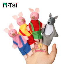 Load image into Gallery viewer, Baby Toys Animal Family Finger Puppets Wooden Cartoon Theater Soft Doll Kids Educational Toys for Children Popular Gift Play
