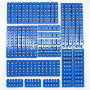 Technic Building Blocks Parts Bulk MOC Thick Bricks 6Color Combination Accessories Studded Long Beams Robot Children Toys