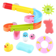 Load image into Gallery viewer, Baby Bath Toys DIY Assembling Track Slide Suction Cup Orbits Toy Bathroom Bathtub Children Play Water Games Set for 3-6 years