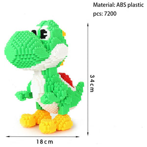 Imebaby8000pcs small particles mini building blocks cartoon children's DIY toys children assembled 3D building blocks large toy