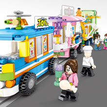 Load image into Gallery viewer, 546pcs City Street View Compatible Lepining Friends Creator Ice Cream Truck Food Store Buildings Blocks Toys For Children 284