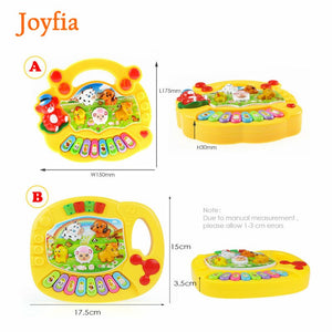 2 Types Baby Kids Musical Animal Farm Piano Toys Early Educational Toys For Children Gift Developmental Musical Instrument Toys#