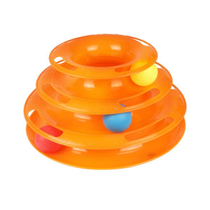 Pet Toy Ball Cat Carousel Baby Cat Supplies Automatic Cat Toy Three-layer Tower Track Carousel Ball Toy