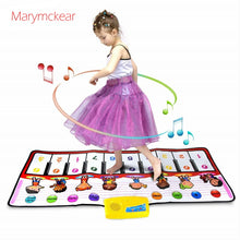 Load image into Gallery viewer, 100x40cm Musical Mat 10 Keys Piano Toy 8 Musical Instruments Sounds Electronic Music Rug Children Piano Educational Toys