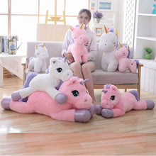 Load image into Gallery viewer, New Plush Pink Unicorn Toy Cute Large Lying&Standing Animal Doll Kids Appease Toys Sofa Sleeping Pillow Christmas Gift Children