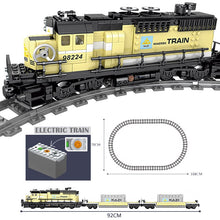 Load image into Gallery viewer, MOC Technic Battery Powered Electric Classic City Train Rail Building Blocks Bricks Gift Toys For Children Boys Girls