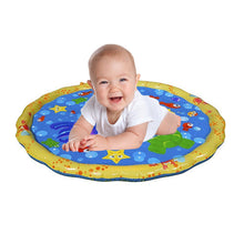 Load image into Gallery viewer, 100cm Funny Inflatable Outdoor Sprinkle Splash Water Play Mat Pad Toy for Kids Children Babies Toddlers Boys Girls