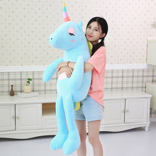 Load image into Gallery viewer, Hot New arrival large unicorn plush toys cute rainbow horse soft doll stuffed animal best toys for children girl gift christmas