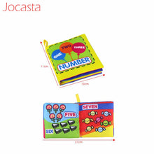 Load image into Gallery viewer, Jocasta Baby Toys Animal Stroller Rattle Soft Cloth Books Animal Fabrics Book Baby Early Learning Educational Toys for Kids ]