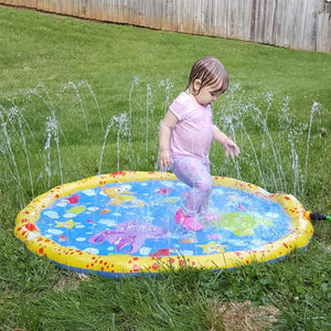 100cm Funny Inflatable Outdoor Sprinkle Splash Water Play Mat Pad Toy for Kids Children Babies Toddlers Boys Girls