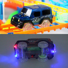 Load image into Gallery viewer, New Flexible Railway Racing Track Play Set DIY Bend Luminous Race   Track car Electronic Flash Light Glowing Car Toys For Child