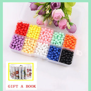 6000pcs 24 colors Refill Beads puzzle Crystal DIY water spray beads set ball games 3D handmade magic toys for children