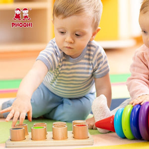 Baby Wooden Montessori Sensory Material Toy Kids Preschool Educational Tactile Toy For Children PHOOHI