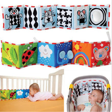 Load image into Gallery viewer, BOLAFYNIA Baby infant cloth book Double-sided black and white color bedside cloth book children Educational toys