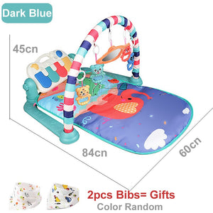 Baby Play Mat Children's Rug Crawling Pad Kid Developing Playmat Music Infant Carpet Rattle Activity Education Toys For Children
