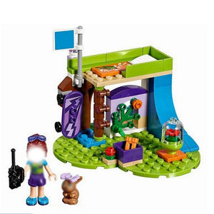 Series Houses Animals Emma/Mia Cat Play Pet House Building Blocks Bricks Girls Princess Lepining Friends Toys For Children