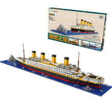 Load image into Gallery viewer, 1300/1860 Pcs No Lepining RMS Titanic Cruise Ship Model Boat DIY Diamond Building Blocks Bricks Kit Children Kids Toys Gifts