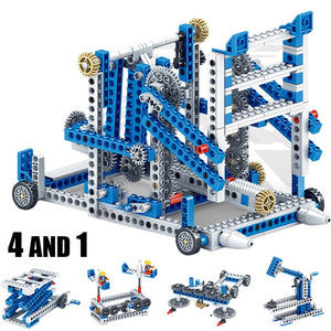 Mechanical Gear Technic Building Blocks Engineering Children's Science Educational STEM Toys 3IN1 Building Blocks Kid Brick Toys