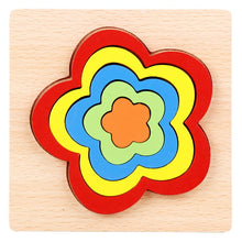 Load image into Gallery viewer, Baby colorful wooden geometric shapes cognition puzzle board kids math game montessori preschool learning educational toys