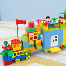 Load image into Gallery viewer, QWZ Paradise Castle Big Size Building Blocks Compatible Duploed Construction Block DIY Amusement Park Brick Toys For Children