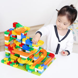 352pcs Race Run Maze Ball Track Funnel Slide Building Block Toys Compatible with Educational Toys For Children Gifts