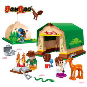 BanBao Countryside Happy Farm House Bricks Educational Building Blocks Model Toys For Kids Children Compatible With brand