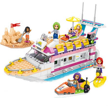 Load image into Gallery viewer, Lepining Friends Building Blocks Holiday Boat 3D Building Blocks  Children's Toys Compatible Friends Gifts Dolphin Yacht  Toys