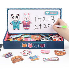 Load image into Gallery viewer, Animals Little Bear Wooden Magnetic Puzzle Toys for Children Drawing Board Jigsaw Kids Game Baby Educational Learning Toy Gift