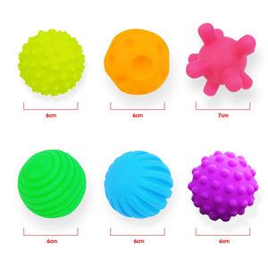 Baby Soft Rubber Ball Toys Puzzle Touch Multi-texture Kids Hand Catch Pinch Pressure Ball Toy Children Learn Climb Fitness Ball