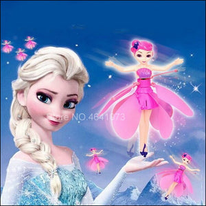 Induction Little Elsa Princess Doll Infrared Suspension Toy Doll Mini RC Remote Drone Girl Child Gift Character Toy