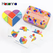 Load image into Gallery viewer, Magnetic Tangram Puzzle Book Portable Preschool Baby Kids Toys Intelligence Jigsaw Puzzle Wooden Educational Toys for Children