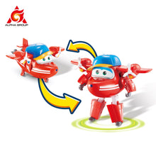 "Load image into Gallery viewer, Abs Super Wings Deformation Transforming 5"" Scale Airplane Robot Action Figures Super Wing Transformation Toys For Children Gift"
