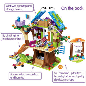 357pcs Friends Adventure Camp Tree House Emma Mia Building Bricks Figure Toy For Children Compatible With Lepining For Girls
