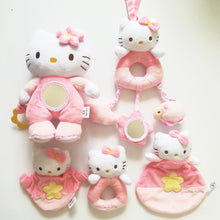 Load image into Gallery viewer, 1pcs New Baby toy! Kids hand Rattle Shaking Bell cartoon animal cat plush toy Pink Kitty Baby Soothing toy high quality