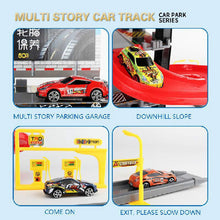 Load image into Gallery viewer, Children's Plastic Parking Toy Set Three-dimensional Multi-layer Car Assembly Rail Car Parent-child Interaction Gift Boy Toys