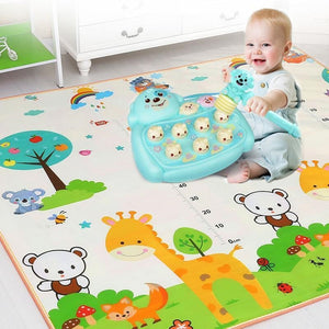 Baby Crawling Play Mat 1.5*1.8 Meter Climb Pad Double-Side Fruit Letters Animal Foldable Baby Toys Playmat Kids Carpet Baby Game